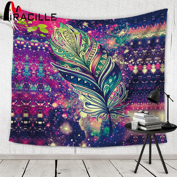 Miracille Indian Wall Tapisserie Bohemian Decor Beach Towel Tapestry Wall Hanging - Slangz TeeZ