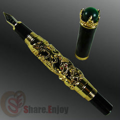 Mother Of Dragons Pearl Accent  Fountain Pen - Slangz TeeZ