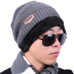 Knitted Winter Hat Scarf Beanies Set - Slangz TeeZ
