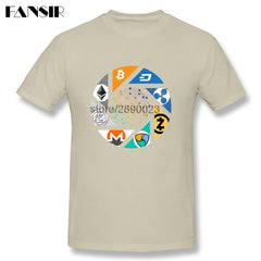 Cryptocurrency Bitcoin Litecoin Dash Zcash Ethereum Monero Homme T-shirt - Slangz TeeZ