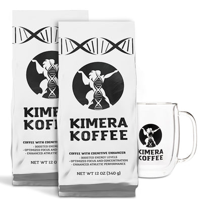 2 Pack & Ghost Mug - Kimera Koffee Original (12oz) - Organic Ground