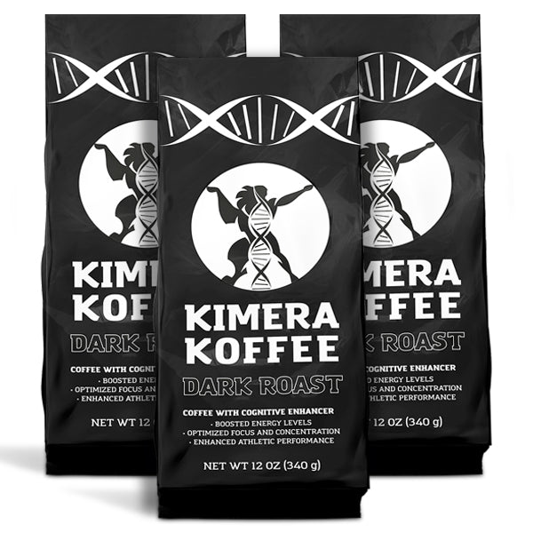 3 Pack - Kimera Koffee Dark (12oz) - Organic Ground