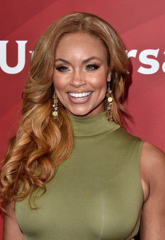 Gizelle Bryant Of Real Housewives Of Potomac wears T. Victoria earrings at NBC Universal Summer Press Event