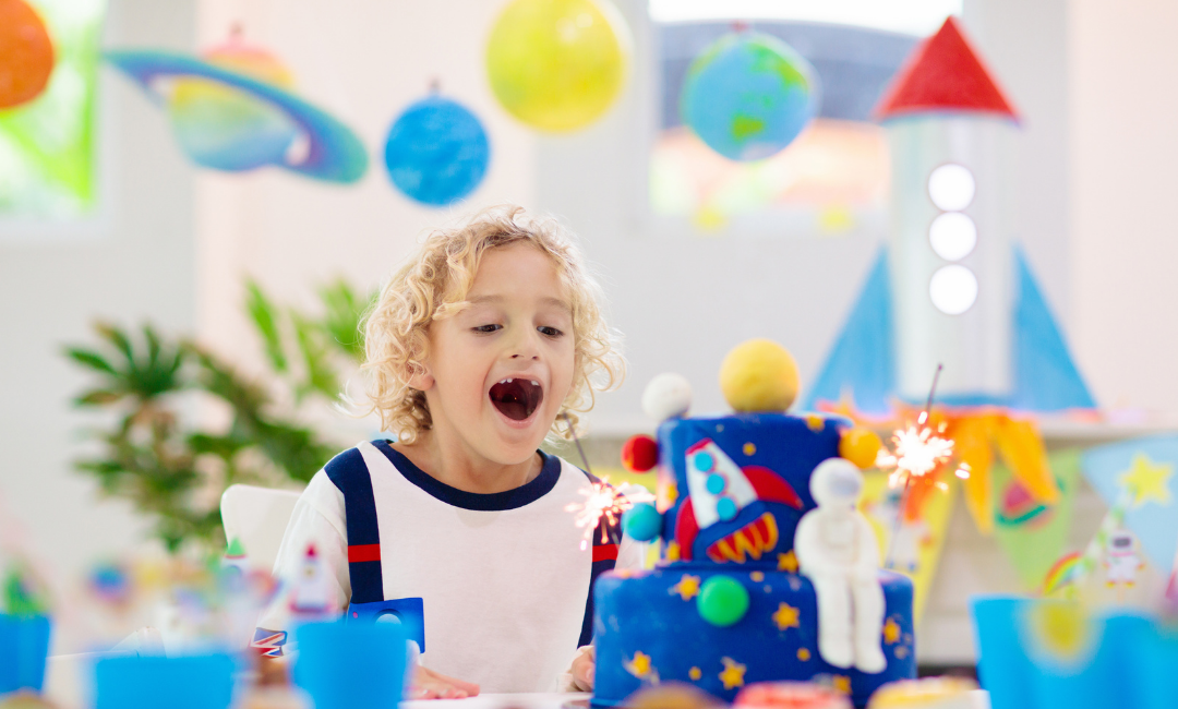 How To Throw a Kids Space Themed Birthday Party