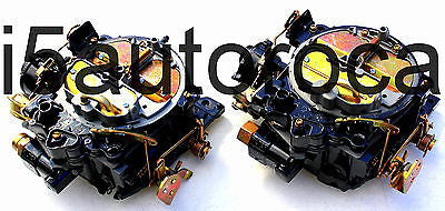 SET OF 2 MARINE CARBURETORS 4BBL ROCHESTER QUADRAJET 5.7 350 MERC ELECTRIC CHOKE - Marine Carburetors