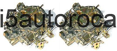 SET OF 2 MARINE CARBURETORS ROCHESTER QUADRAJET 5.0 305 ELEC CHOKE DICHROMATE - Marine Carburetors
