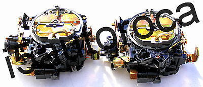 SET OF 2 MARINE CARBURETORS 4BBL ROCHESTER QUADRAJET 5.0 305 MERC ELECTRIC CHOKE - Marine Carburetors