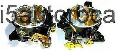SET OF 2 MARINE CARBURETORS 4BBL ROCHESTER QUADRAJET 4MV 8.2L 502 CID MERCRUISER - Marine Carburetors
