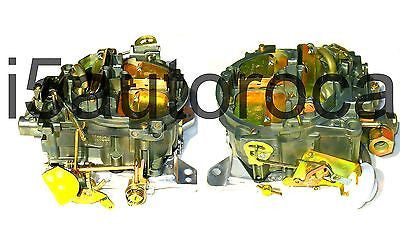 SET OF 2 MARINE CARBURETORS 4BBL ROCHESTER QUADRAJET 7.4 454 ENG MERC DICHROMATE - Marine Carburetors