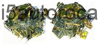 SET OF 2 MARINE CARBURETORS ROCHESTER QUADRAJET 4MV 5.7L 350 CID MERC DICHROMATE - Marine Carburetors