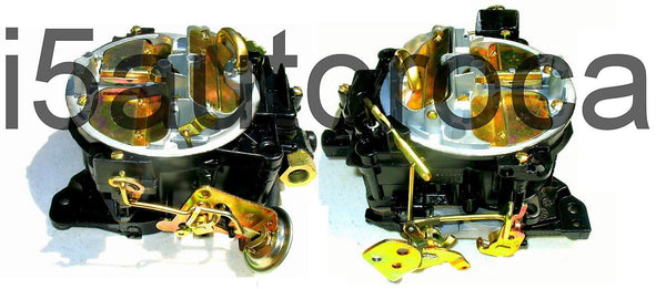 SET OF 2 MARINE CARBURETORS ROCHESTER 4BBL QUADRAJET 4MV 4.3 L 262 V6 MERCRUISER - Marine Carburetors