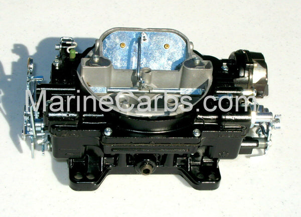 MARINE CARBURETOR WEBER 4 BBL REPLACES 9665S V8 5.7 MERCRUISER ELECTRIC CHOKE - Marine Carburetors