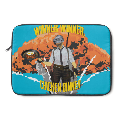 Laptop Sleeve Blue chicken dinner design