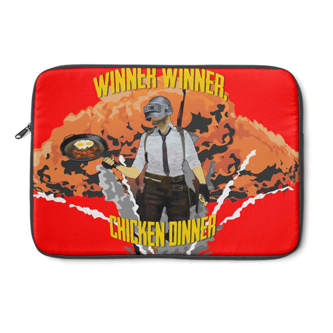 Laptop Sleeve winner winner design (red)