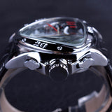 Triangle Designed Genuine Leather Sports Watch