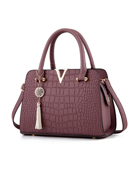 Crocodile Pattern Women's Handbag