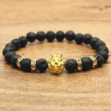 Antique Gold and Silver Plated Lion Bracelet