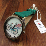 Bicycle Pattern Cartoon Watch