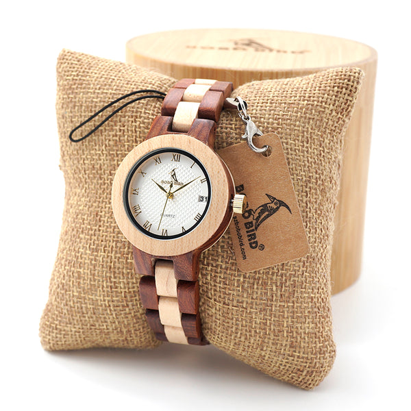 Wooden Quartz Watch for Women