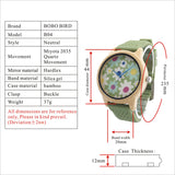 Bamboo Watch with Fabric Dial