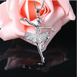 Dancing Ballerina Dancer Pendant Necklace