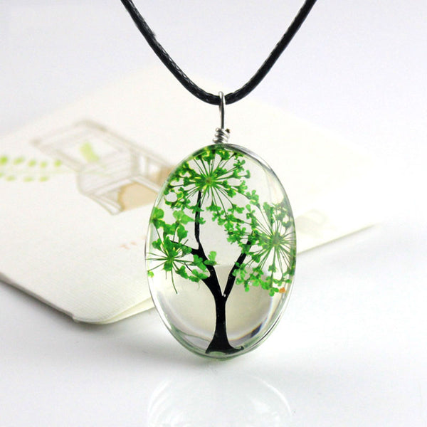 7 Colors Life Tree Oval Shape Pendant