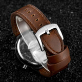 Analog Outdoor Sports Watch with Leather Strap
