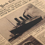 New York Times Poster - The Titanic Shipwreck