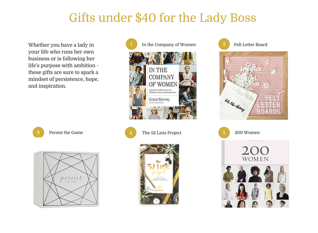 5 Gifts Under $40 for the Lady Boss