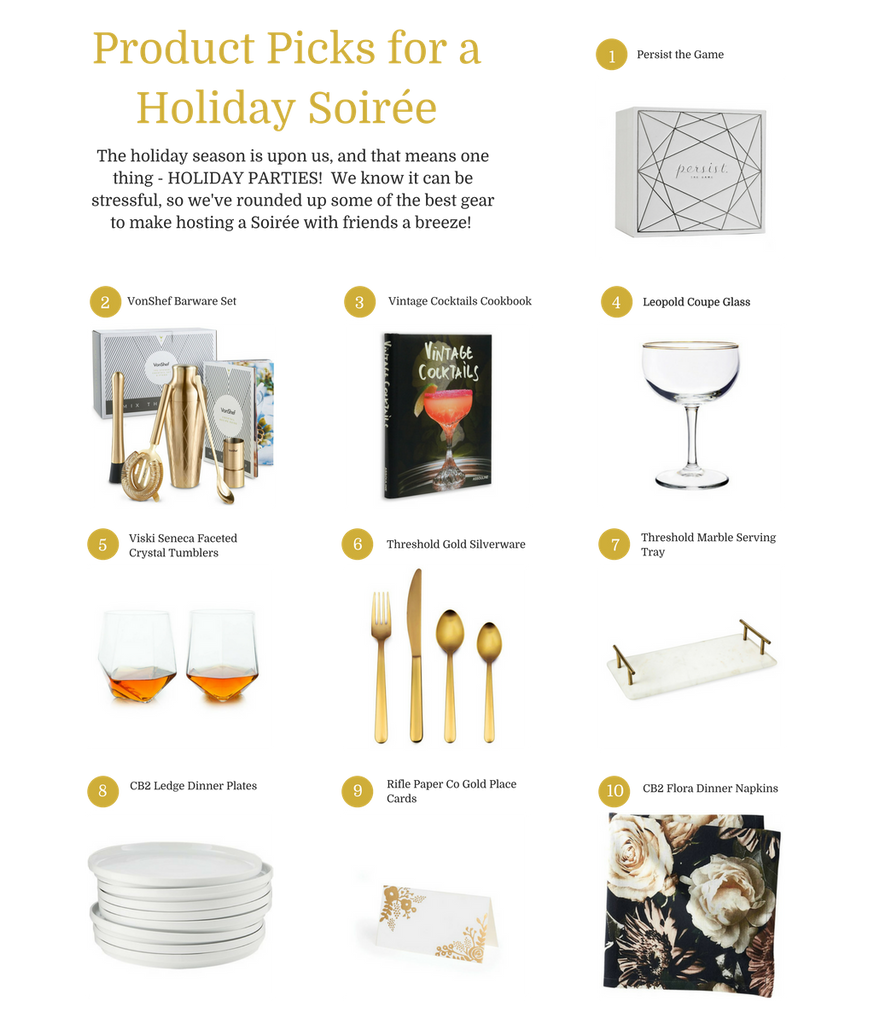 Top 10 List: Holiday Soirée Product Picks