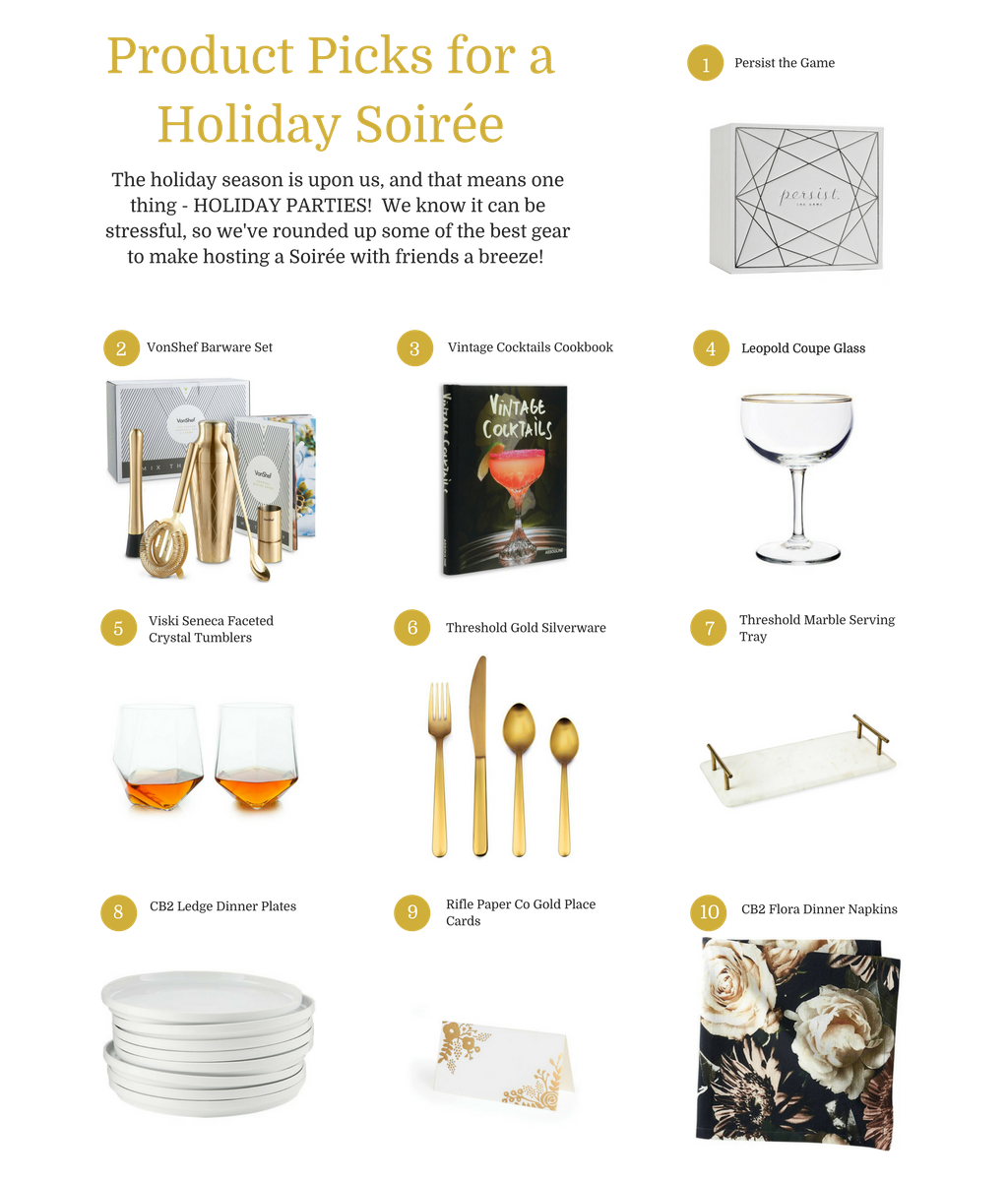 Top 10 List Holiday Soiree Product Picks Persist The Game