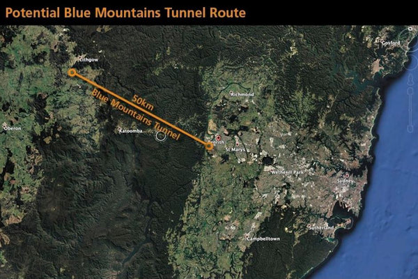 blue mountain tunnel proposal