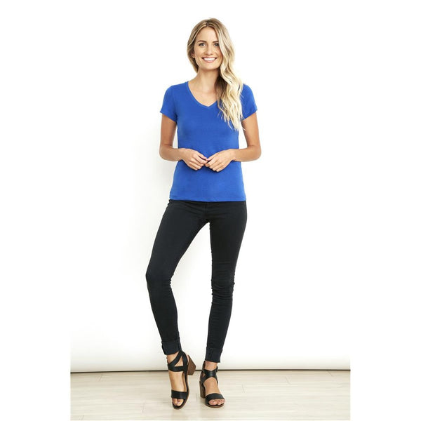 women's sueded v neck