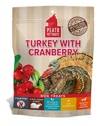 PLATO GRAIN FREE TURKEY WITH CRANBERRY TREATS