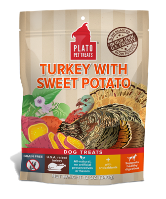 PLATO GRAIN FREE TURKEY WITH SWEET POTATO TREATS
