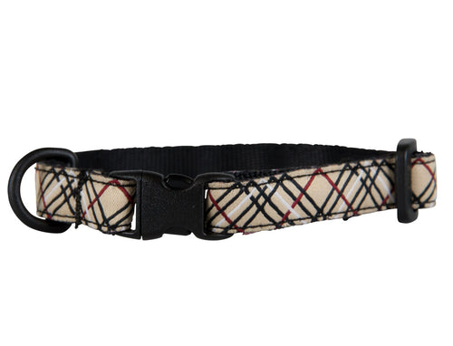 RC PET KITTY BREAKAWAY COLLAR TAN TARTAN