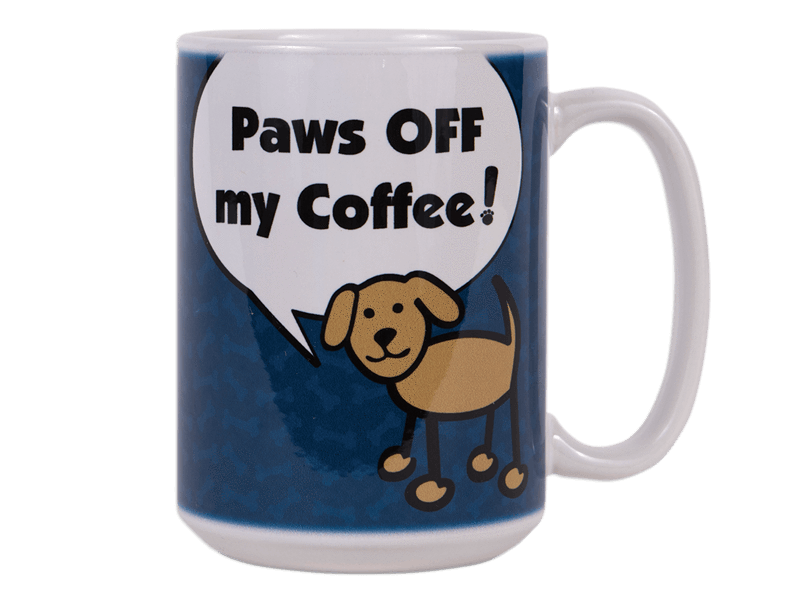15OZ CERAMIC MUG - PAWS OFF