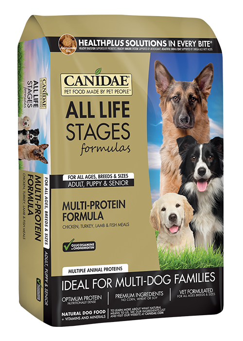 CANIDAE ALL LIFE STAGES CHICKEN, TURKEY, LAMB & FISH MEALS FORMULA