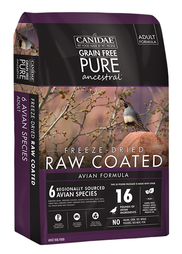 CANIDAE PURE ANCESTRAL RAW COATED DRY AVIAN FORMULA