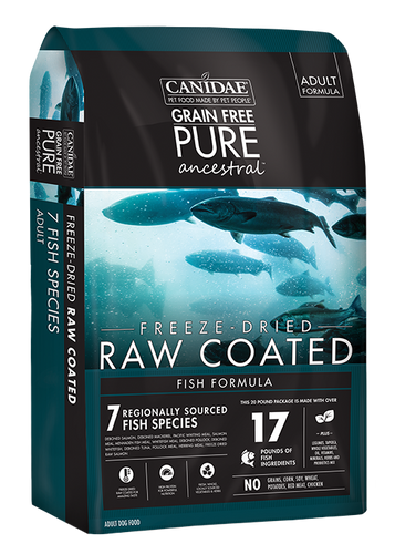 CANIDAE PURE ANCESTRAL RAW COATED DRY FISH FORMULA