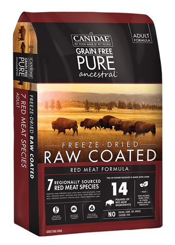 CANIDAE PURE ANCESTRAL RAW COATED DRY RED MEAT FORMULA