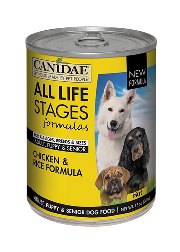 CANIDAE CHICKEN & RICE 13OZ CAN