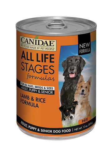 CANIDAE LAMB & RICE 13OZ CAN
