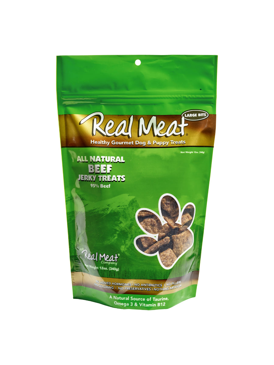 REAL MEAT 95% BEEF JERKY TREATS