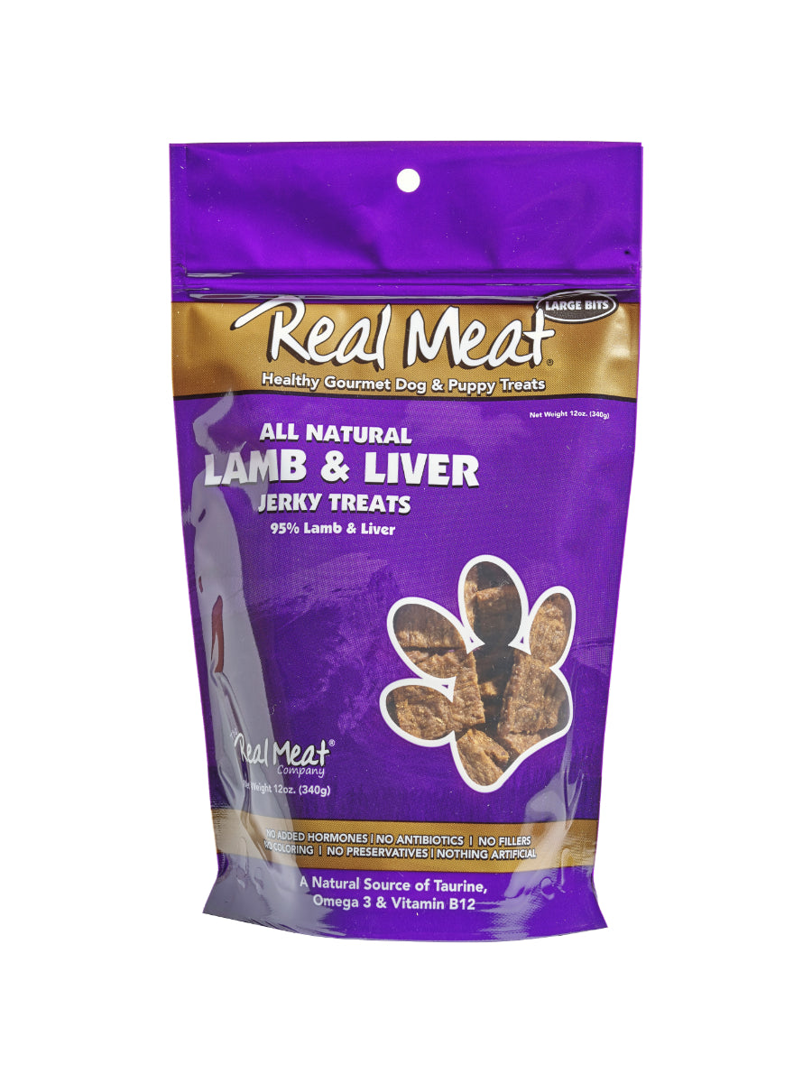 REAL MEAT 95% LAMB & LIVER JERKY TREATS