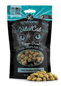 VITAL ESSENTIALS FREEZE DRIED WILD ALASKAN SALMON CAT TREATS
