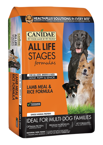 CANIDAE ALL LIFE STAGES LAMB MEAL & RICE FORMULA