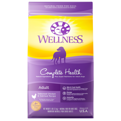 WELLNESS COMPLETE HEALTH DOG DEBONED CHICKEN & OATMEAL