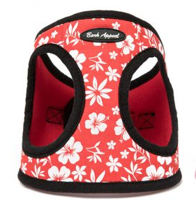 BARK APPEAL EZ WRAP STEP IN HARNESS RED HIBISCUS