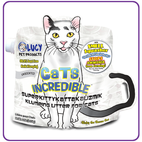 LUCY PET CATS INCREDIBLE UNSCENTED CLUMPING LITTER
